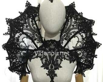 Elizabethan Collar Vampire gothic shoulder piece standing alone