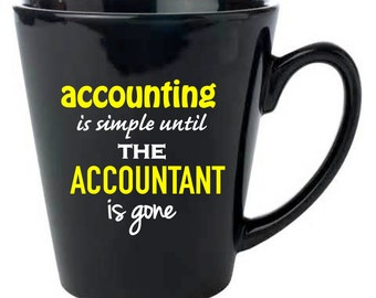 Accounting is Simple   Black Coffee Mug