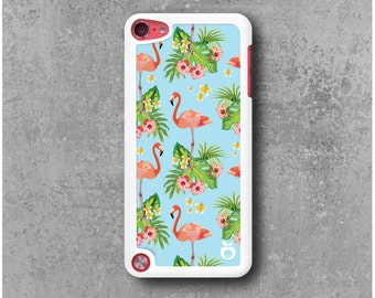 iPod Touch 5 Hard Case Pink Flamingo