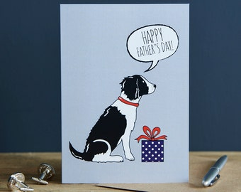 Springer Spaniel Father's Day card (liver or black and white)