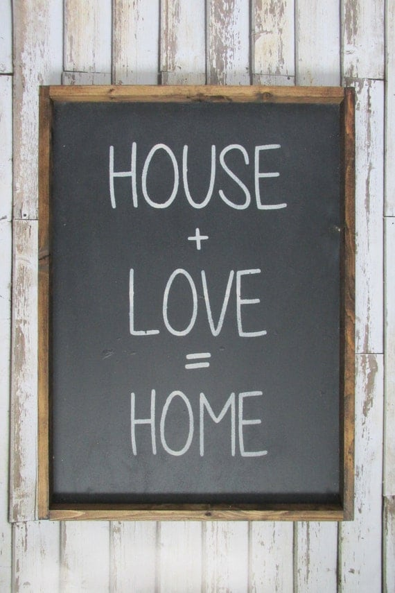 House Love Home Wood Sign Farmhouse Decor Wooden Signs