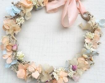 Pastel Dried Flower Crown