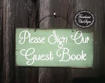 wedding guest book sign, guest book decor, guest book sign, rustic wedding decor, rustic guest book sign, please sign guest book,