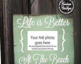 Beach picture frame, better at beach, beach photo frame, beach photo, better at beach picture holder, beach wall decor, beach wall art