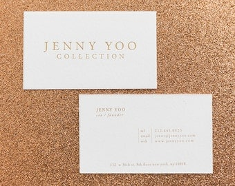 Gold Foil // letterpress // Business Cards
