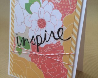 Inspire | Blank Greeting Card | Hand Made