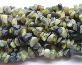 YELLOW TURQUOISE CHIPS, nuggets  34 inch strand, gems, beading supplies, destash beads, semi precious stones, gems, jane possum bari