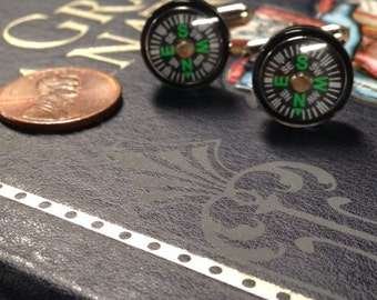 Tiny Compass Cufflinks