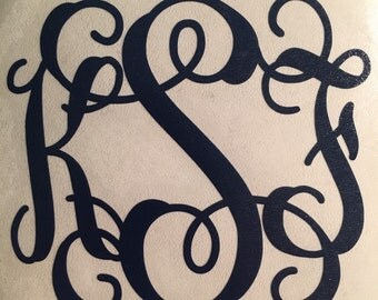"Personalized Script 3.5""x3"" Monogram Sticker"