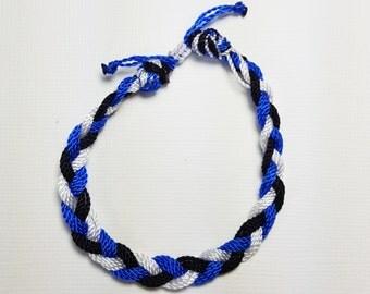 Royal,Navy, and White(kids,baby,toddler,adult) bracelet/anklet, waterproof,string bracelet, ADVENTURE BRACELETS