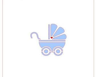 Baby Carriage #1 Stencil