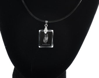 Tonkinese cat  , Cat Crystal Necklace, Pendant, High Quality, Exceptional Gift, Collection!