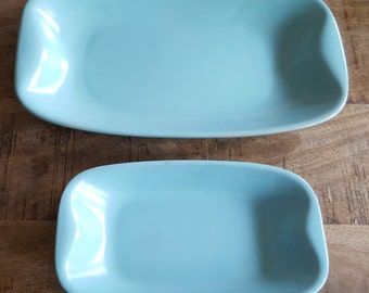 Matched pair of vintage ceramic trays
