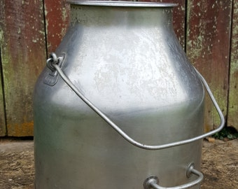 5 gallon DeLaval stainless steal milk can