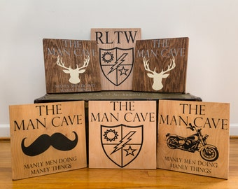 Customized Man Cave Wood Sign