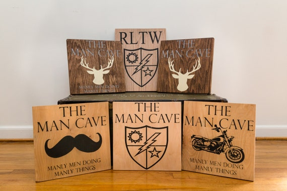Personalised Wooden Man Cave Signs : Custom wood man cave sign
