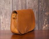 The Saddle Leather Bag  Amber Tan