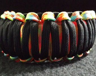 Red/Green LED Glow Bracelet (Black, neon edge)**OOPS**