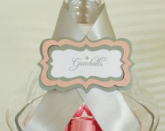 Candy Buffet Labels Custom