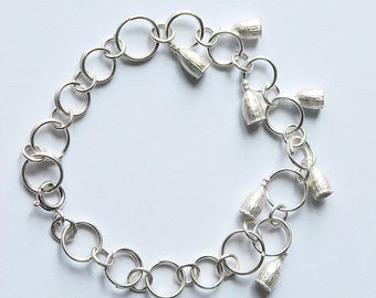 """Small poppies"" bracelet 925 Silver"
