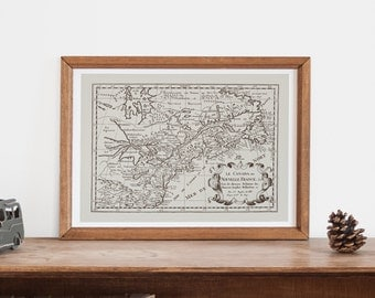 Vintage Montreal Map Etsy
