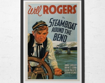 RETRO MOVIE POSTER - Vintage Will Rogers Movie Poster - Old Movie Poster, Home Decor Wall Art