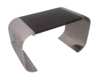 Brueton Polished Steel Side Table