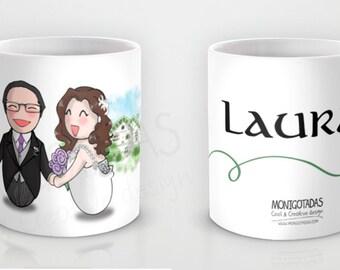 Tazas personalizadas para bodas / Regalo para invitados