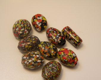 Large Multicolored Beads