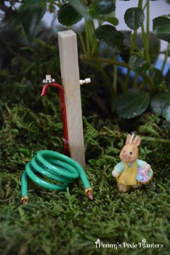 Miniature Garden Hose With Spigot Fairy Garden Water Hose