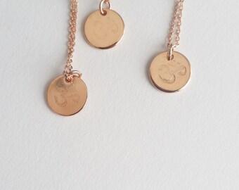Rose Gold Om Necklace