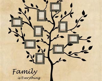 Family Tree Wall Decal Branches Wall Words