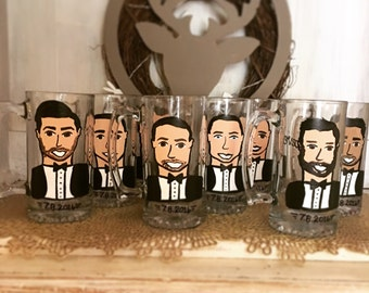 Groomsman Gifts - Charicature Beer Steins