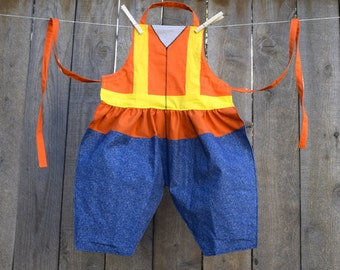 PRICES REDUCED! ~ Construction Worker or Traffic Guard Dress Up Apron ~  Career Pretend Play Apron for children