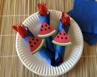 Paper Watermelon Napkin Holders, set of 20