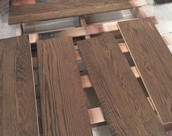 prefinished red oak stair treads