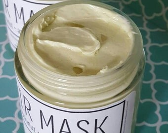 Coconut & Avocado Hair Mask, Deep Conditioning treatment, Organic Hair Mask