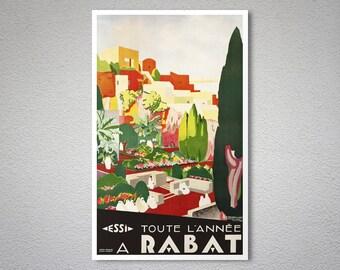Toute L'annee Rabat Travel Poster, 1935 - Poster Print, Sticker or Canvas Print