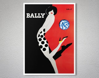 Bally  Vintage Poster - Poster Print, Sticker or Canvas Print