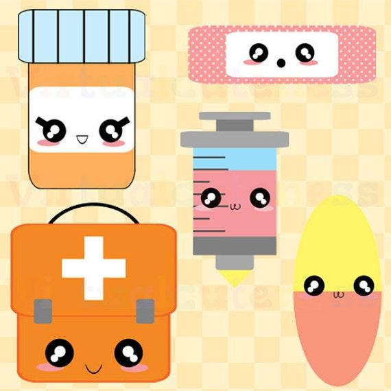Kawaii First Aid Clipart Doctor Clip Art Medicine Clipart