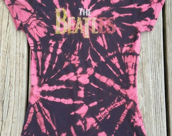 Reverse Tie Dyed Beatles Shirt