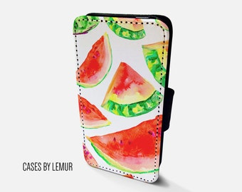 WATERMELON Iphone 6s Plus Wallet Case Leather Iphone 6s Plus Case Leather Iphone 6s Plus Flip Case Iphone 6s Plus Leather Wallet Case Cover