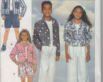 Sewing Pattern for Boys and Girls Jacket, Shorts and Pants   - Sizes 7  8 10 - Butterick 5935  -  Uncut