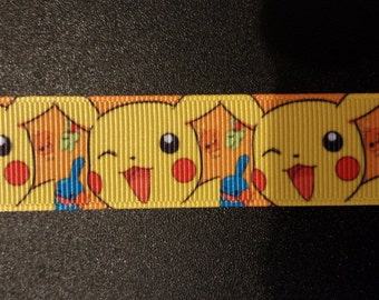 "7/8"" Pokemon Inspired Grosgrain Ribbon"
