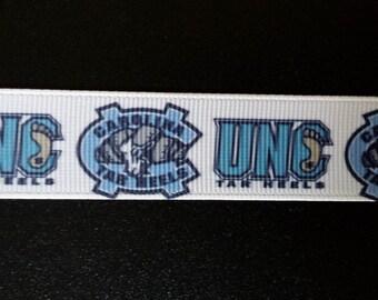 "7/8"" University of North Carolina Tar Hills Inspired Grosgrain Ribbon"