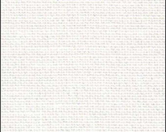 OPALESCENT/WHITE - 32 Count Belfast Linen, Zweigart | Various Cuts Available | High Quality Linen for Cross Stitch & Needlework | 100% Linen