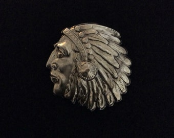 Indian Chief Brooch Pin