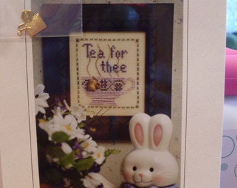 Tea for Thee Counted Cross Stitch Pattern