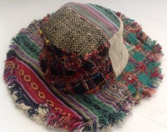 Multicolored Eco Friendly Natural Hemp Summer Sun Hat