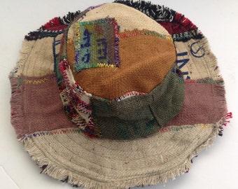Eco Friendly Bohemian THC Free Hemp & Cotton Sun Hat